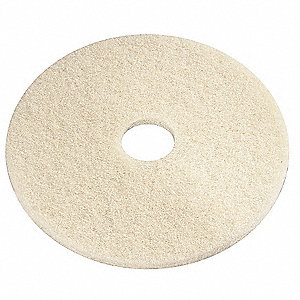 Burnishing Pad,27 In,Beige,PK5