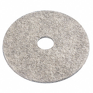 "27"" Gray/Black Burnishing Pad, Recycled Plastic Polyester Fiber, Package Quantity 5"