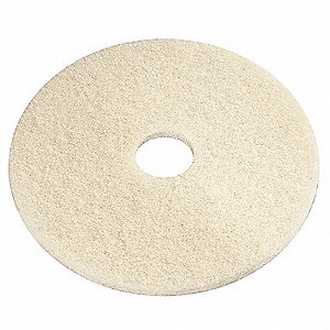 "20"" Creme Marble Burnishing Pad, Recycled Plastic Polyester Fiber, Package Quantity 5"