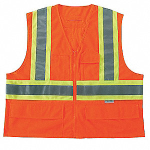 High Visibility Vest,Class 2,S/M,Orange