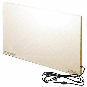 "22-1/2"" x 1"" x 16"" Radiant Non-Oscillating Electric Flat Panel Heater, Beige"