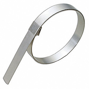 201 Stainless Steel Hose Clamp, PK of 10