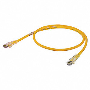 Ethernet Cable,Cat 6,Yellow,10 ft.