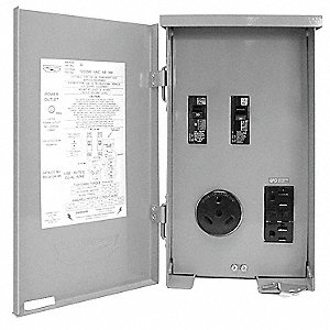 Outdoor Hard Wired GFCI,  30,  1 Phase,  Voltage 120/240VAC,  Reset Type Manual