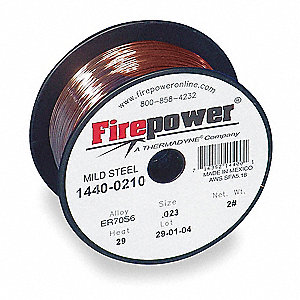 "11 lb. Carbon Steel Spool MIG Welding Wire with 0.035"" Diameter"
