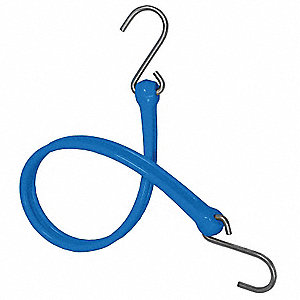 BUNGEE STRAP,S-HOOK,24 IN.L,BLUE
