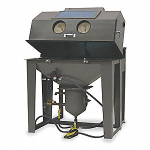 "Pressure-Feed Abrasive Blast Cabinet, Work Dimensions: 24"" x 48"" x 26"", Overall: 71"" x 31"" x 51"""