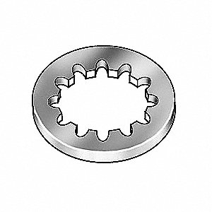 Lock Washer,Bolt #8,18-8 SS,PK100