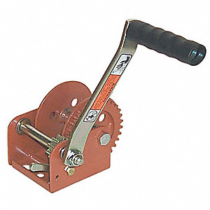 Ratcheting Winch,Spur,No Brake,900 lb.
