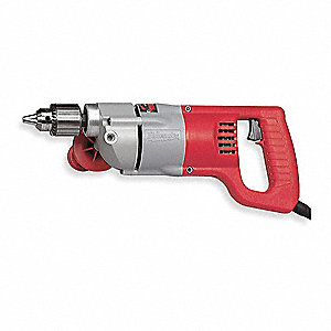 "1/2"" Electric Drill, 7.0 Amps, Spade Handle Style, 0 to 600 No Load RPM, 120VAC"