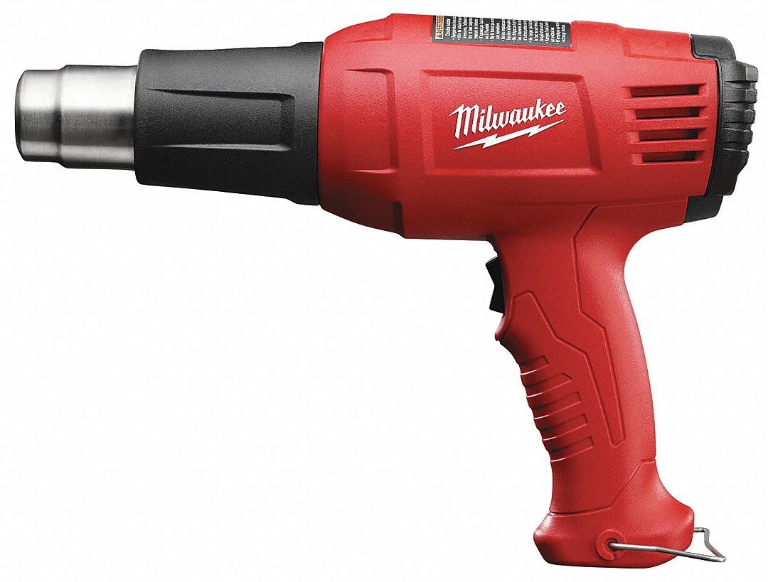 Electric Heat Gun 120V AC, Fixed Temp. Settings, 570°/1000°F