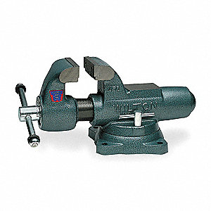 "4-1/2"" Ductile Iron Machinist's Vise, 4"" Throat Depth"