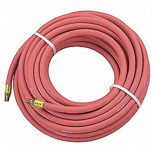 50 ft. Air Hose, Pneumatic Hose Max. Pressure: 250 psi, Red