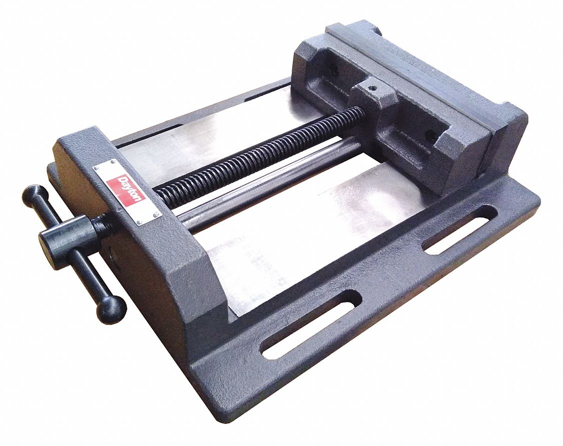 Machine Vise,  Standard,  Fixed Base,  6 in Jaw Opening (In.),  6 in Jaw Width (In.)