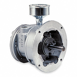 "6.69"" x 6.50"" x 6.50"" Flange Mounted Air Motor with 1/2"" Shaft Dia. and 1/4"" NPT Port Size"