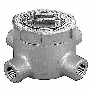"X-Style 3/4"" Conduit Outlet Body, Threaded Iron, 19.0 cu. in."