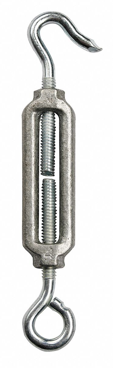 5//8 x 18 Diameter Self-Colored Working Load Limit 2,250 lb Chicago Hardware 01593 6 Carbon Hook and Eye Turnbuckle