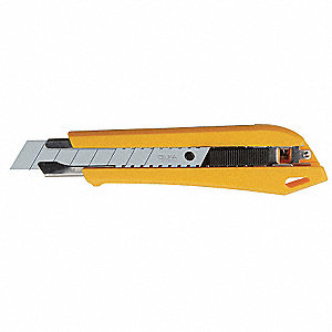 "18mm Snap-Off Utility Knife,6-7/64"" Overall Length,Number of Blades Included: 1"