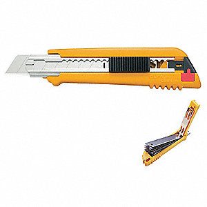 "18mm Snap-Off Utility Knife,6"" Overall Length,Number of Blades Included: 6"