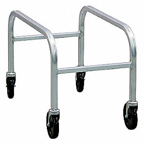 "26"" x 15-3/4"" x 19"" Aluminum Container Dolly with 700 lb. Load Capacity, Silver"