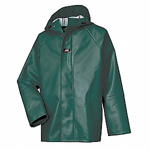 Men's Rain Jacket with Hood, PVC
