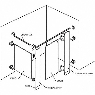 7AW61 - Partition Single Comp Enamel Black