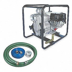 8 HP Aluminum 242cc Engine Driven Centrifugal Pump Kit, 6.4 qt. Tank Capacity