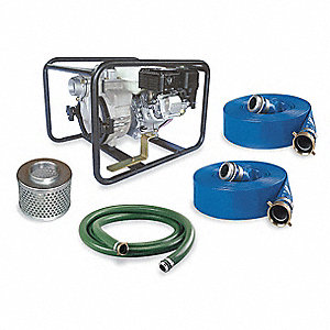 4.8 HP Aluminum 163cc Engine Driven Centrifugal Pump Kit, 3.81 qt. Tank Capacity