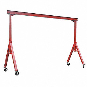 Portable Gantry Crane,4000Lb,Max Ht10Ft