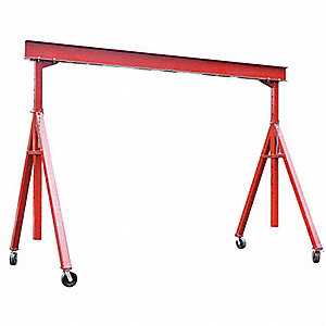 Portable Gantry Crane,6000Lb,Max Ht14Ft