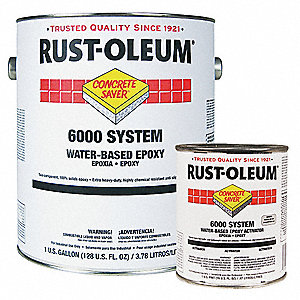 Floor Coating Kit,1 gal,Silver Gray