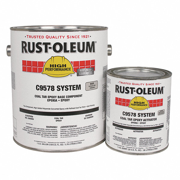 Matte Finish Epoxy : Rust oleum black epoxy activator and finish kit matte