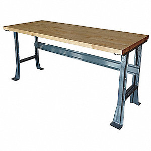 "Workbench, Laminate, 30"" Depth, 34"" Height, 48"" Width, 6000 lb. Load Capacity"
