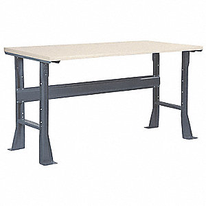 "Workbench, Laminate, 36"" Depth, 33-1/4"" Height, 72"" Width, 6000 lb. Load Capacity"