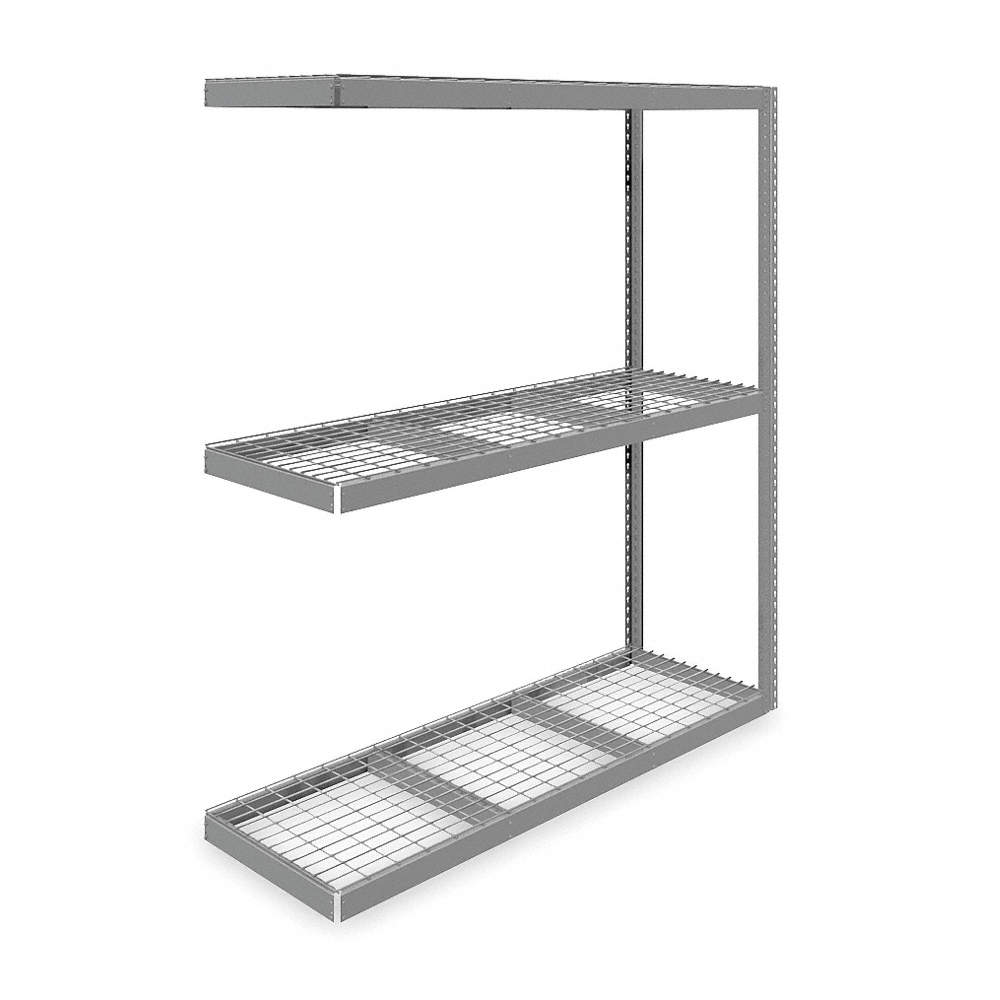 TENNSCO Add-On Boltless Shelving with Galvanized Wire Shelves, 73\