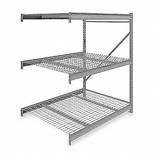 "Add-On Bulk Storage Rack with Galvanized Wire Decking and 3 Shelves, 60""W x 48""D x 72""H"