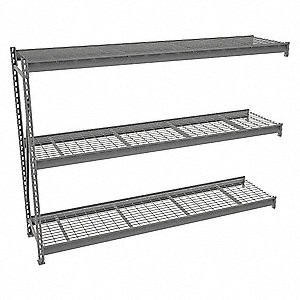 "Add-On Bulk Storage Rack with Galvanized Wire Decking and 3 Shelves, 96""W x 24""D x 72""H"