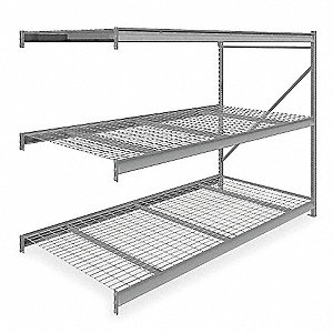 "Add-On Bulk Storage Rack with Galvanized Wire Decking and 3 Shelves, 96""W x 48""D x 72""H"