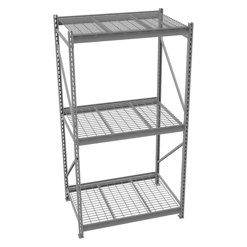 TENNSCO Starter Bulk Storage Rack with Galvanized Wire Decking and 3 ...