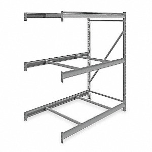 "Add-On Bulk Storage Rack with None Decking and 3 Shelves, 60""W x 36""D x 72""H"