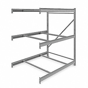 "Add-On Bulk Storage Rack with None Decking and 3 Shelves, 60""W x 48""D x 72""H"