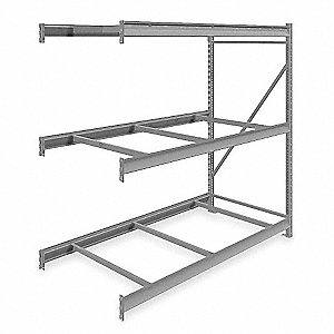 "Add-On Bulk Storage Rack with None Decking and 3 Shelves, 72""W x 36""D x 72""H"