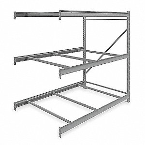 "Add-On Bulk Storage Rack with None Decking and 3 Shelves, 72""W x 48""D x 72""H"