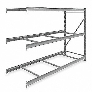 "Add-On Bulk Storage Rack with None Decking and 3 Shelves, 96""W x 36""D x 72""H"