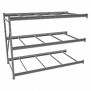 "Add-On Bulk Storage Rack with None Decking and 3 Shelves, 96""W x 48""D x 72""H"