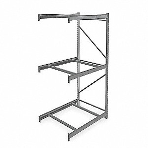 "Add-On Bulk Storage Rack with None Decking and 3 Shelves, 48""W x 36""D x 96""H"