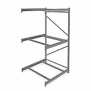 "Add-On Bulk Storage Rack with None Decking and 3 Shelves, 48""W x 48""D x 96""H"