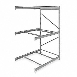 "Add-On Bulk Storage Rack with None Decking and 3 Shelves, 60""W x 48""D x 96""H"