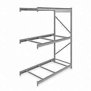 "Add-On Bulk Storage Rack with None Decking and 3 Shelves, 72""W x 36""D x 96""H"