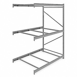 "Bulk Rack,Add-On,96"" H,72"" W,48"" D,Gray"